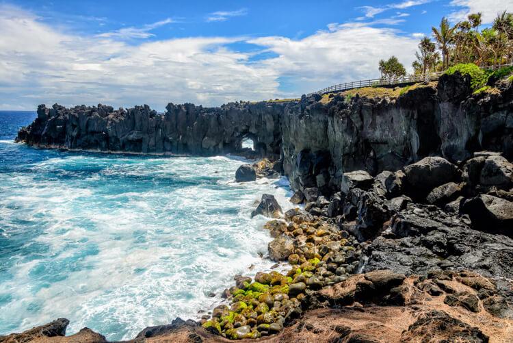 Photo du 'Cap Méchant' à l'île de La Réunion